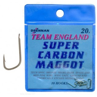 Крючки Super Carbon Maggot Team England