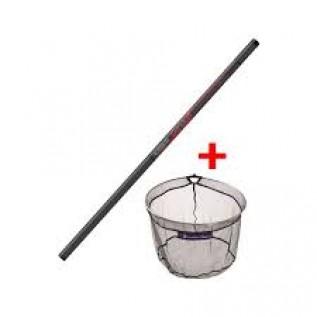 Ручка для подсака Ручка для подсака Flash Put Over Net 3.0 m + плюс голова для подсака Tete Leeder Match 40 cm