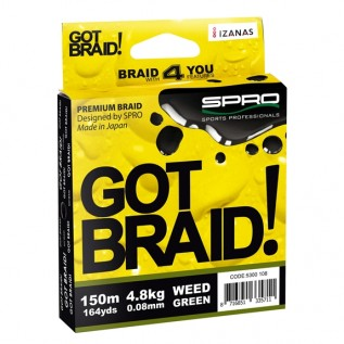 Плетеный шнур Got Braid Green Ø 0,08 размотка 150 м