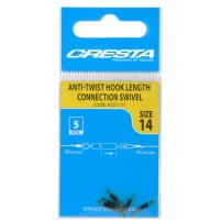 Коннектор с вертлюжком для поводков Cresta Inside Tube Hook Length Connection Swivel